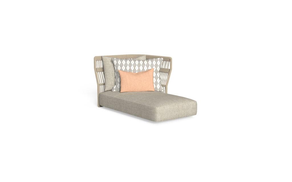 sofa longue sx backrest rope