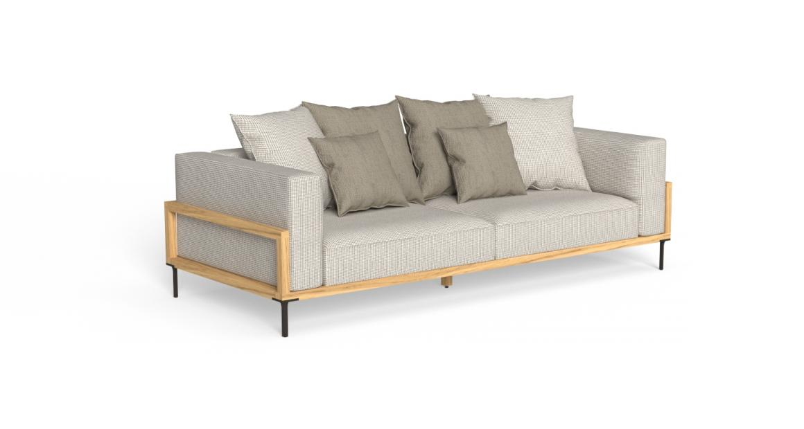 CleoSoft//Wood Sofá de 3 plazas