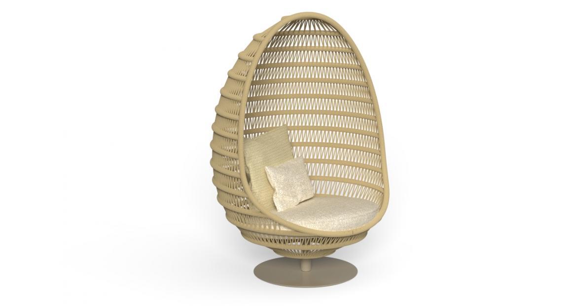 Panama Silla huevo con base