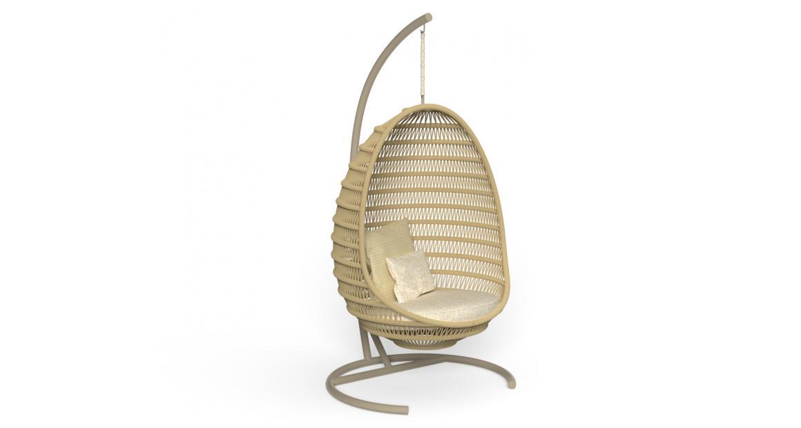 Panama Silla huevo con estructura